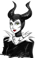 Maleficent by MESS-Anime-Artist