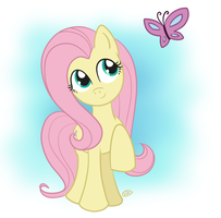 Fluttershy Butterfly by drawnbykenna