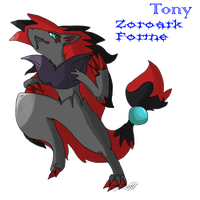 Tony the Zoroark by ZNSMaster by Shaprite91