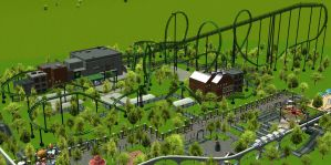 RCT3 Riddler's Revenge by Coasterdl