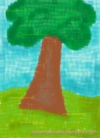 Pixelated Tree by personia