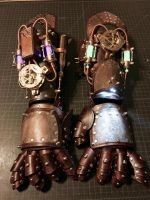 My Personal Gauntlets by CraftedSteampunk