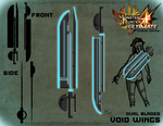 MH4U Weapon Contest - Void Wings by Stickfigure5000