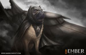 Batpug is Sad by liquidminduk