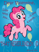 Pinkie Pie Valentine's Day Card by AleximusPrime