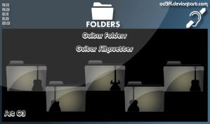 Guitar Folders - Guitar Silhouettes Set 03 by od3f1