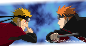 Naruto VS Pain - Opening 07 - Lineart Colored by DennisStelly