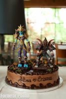World of Warcraft Groom's Cake by Erisana