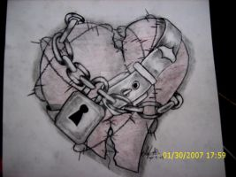 chain wrapped heart by k9-productions