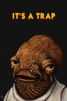 It's A Trap!!! by thesadpencil