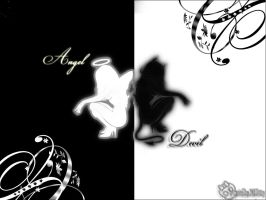 Angel and Devil by mestiza