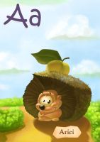 Kids ABC Cards A by creaturedesign