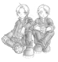 FMA - Elric Brothers by somestrangeperson