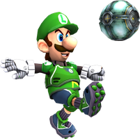 Luigi render test (Mario Strikers Charged) by Luigimariogmod