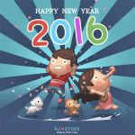Happy New Year 2016 by hjstory