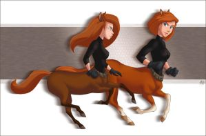 CM - Centaurs Kim and Ann by Mistrel-Fox