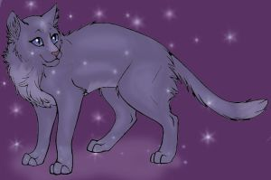 Bluestar in starclan by Snowrosestar