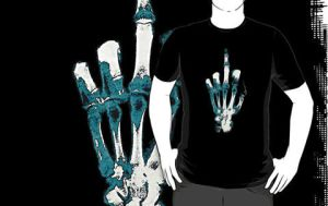 Skeleton hand F*UCK by BuldoZZeR
