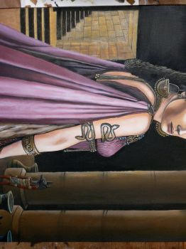 Queen Akasha painting WIP2. by Leebea