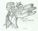 Star Lord and Rocket Raccoon by j3-proto