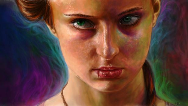 Sophie turner from game to thrones. by Lewis3222