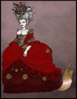 18th century mermaid queen by Agent4