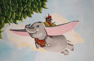 Dumbo Mural Painting by Bonniemarie