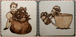 Woodburning - Coaster - Fallout Goodies, Minions by Stepher17