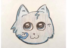 Blue Kitty Head by Awesomesaucical