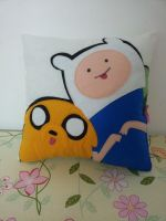 Handmade Adventure Time Jake and Finn Plush Pillow by RbitencourtUSA