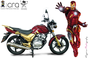 Iron Man Custom Bike by AuroraMagorian