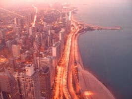 Lake Shore Drive at Dusk by DreamOfYou