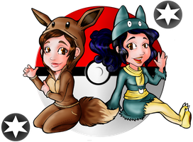 Collab: Eevee and Munchlax by Doggy-Yasha