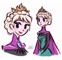 Stylized Queen Elsa from Disney's Frozen by princekido