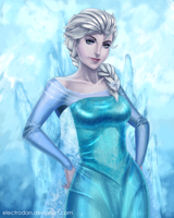 Elsa the Snow queen by ElectroDan