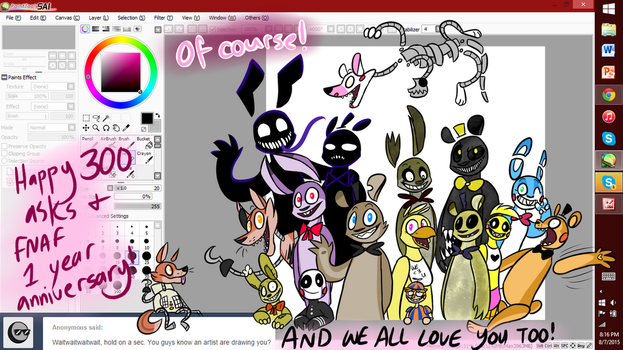 ASK #300 AND FNAF 1 YEAR ANNIVERSARY! by Ask-The-5NAF-Crew
