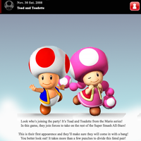 Brawl... TOAD AND TOADETTE? by lilyoshidude