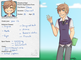 Chatsford High: Chase Charwell by Little-Miss-Boxie