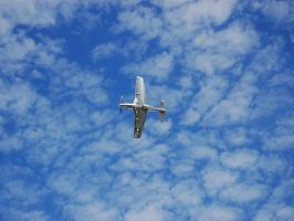 Polished P51 Mustang overhead by Partywave