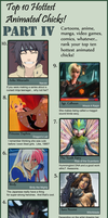 Top Ten Animated Chicks IV by Chronorin
