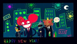 Daftmau5bear new years party by inkylinkyboooo
