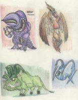 Colored Pencil Sketches by megadrivesonic