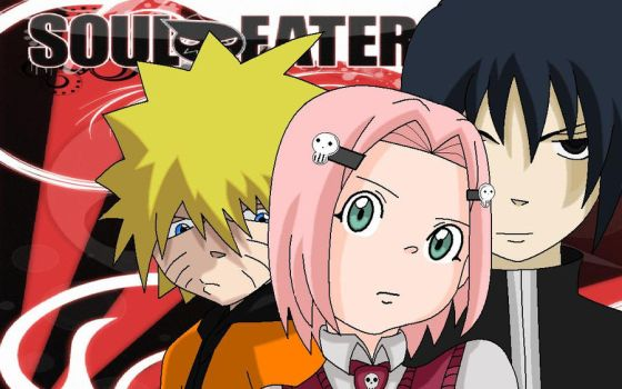 Soul Eater and Naruto by ERGleeson