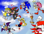 Chibi Sonic Skydiving by SonicRocksMySocks