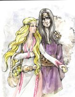 Idunn and Loki by Odins-Girl
