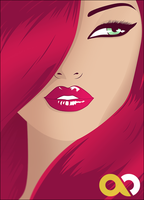 Unknown Redhead with Green Eyes by OverdozeCreatives