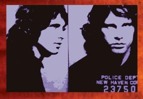 Jim Morrison Painting----59.00 by Hodgy-Uk
