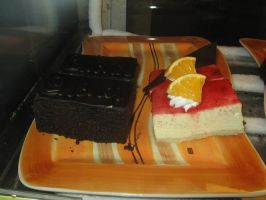 Sacher Torte and Lemon Cheesecake by AbstractWater