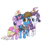 Twilight, Blaine and Rarity by FinnishGirl97