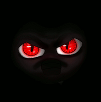 Eyes of the beast - glow animation by moonlightwalk